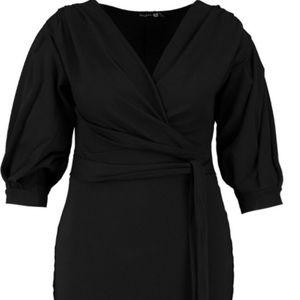 Plus Off The Shoulder Wrap Midi Dress ❤️✨